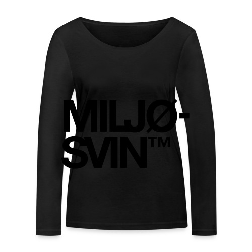 Miljøsvin (tm) - Økologisk langermet T-skjorte for kvinner fra Stanley & Stella