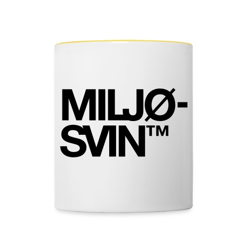 Miljøsvin (tm) - Tofarget kopp