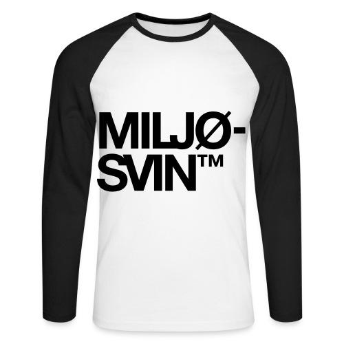 Miljøsvin (tm) - Langermet baseball-skjorte for menn