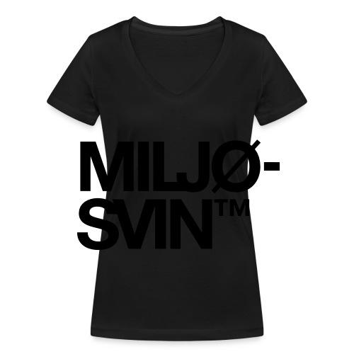 Miljøsvin (tm) - Økologisk T-skjorte med V-hals for kvinner fra Stanley & Stella