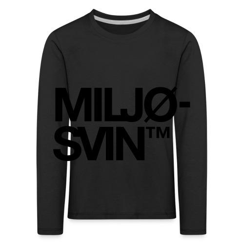 Miljøsvin (tm) - Premium langermet T-skjorte for barn