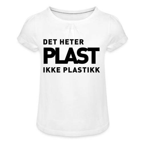 Det heter plast - Jente-T-skjorte med frynser