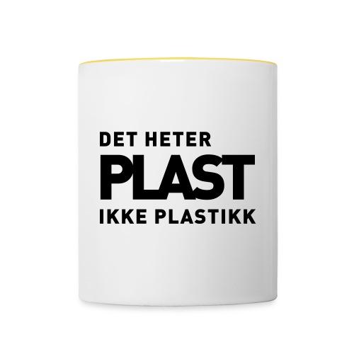 Det heter plast - Tofarget kopp