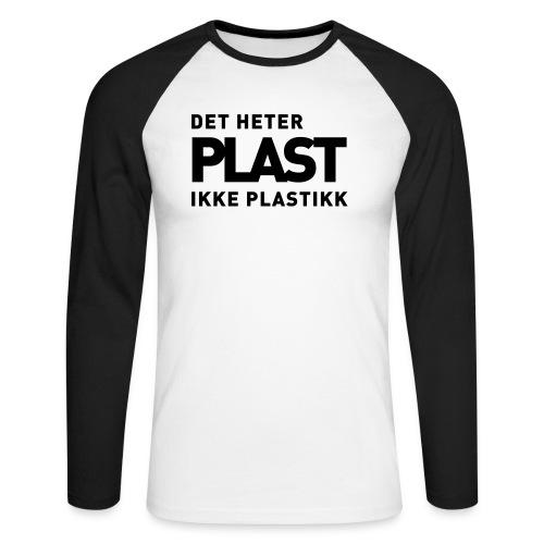 Det heter plast - Langermet baseball-skjorte for menn