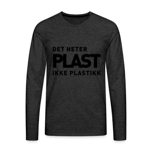 Det heter plast - Premium langermet T-skjorte for menn