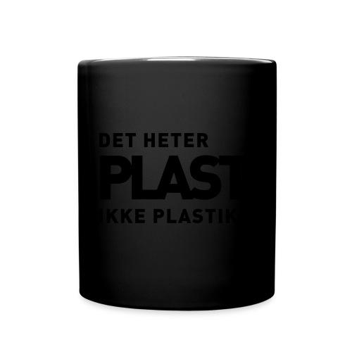 Det heter plast - Ensfarget kopp