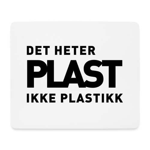 Det heter plast - Musematte (liggende format)