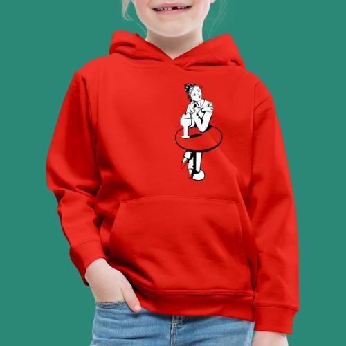 Mädchen am Tisch T-Shirts - Kinder Premium Hoodie