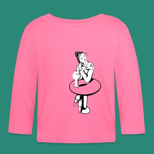 Mädchen am Tisch T-Shirts - Baby Langarmshirt