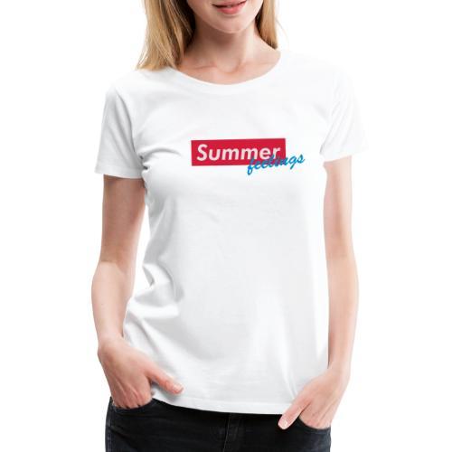 Summer feelings - Frauen Premium T-Shirt