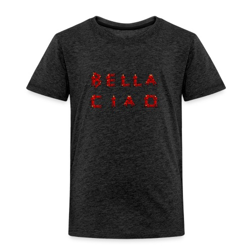 Sac bandouillère Besace gris BELLA CIAO fan de la série La Casa del Papel - T-shirt Premium Enfant