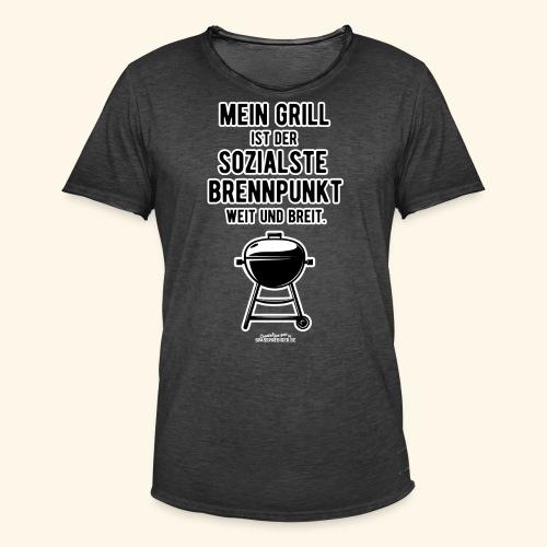 Grillshirt Mein Grill - Männer Vintage T-Shirt
