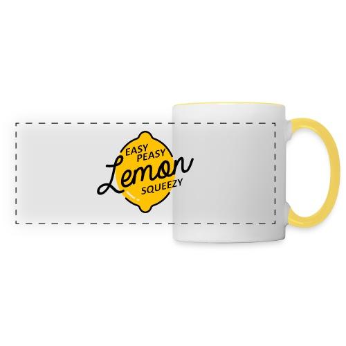 Mug Easy Peasy Lemon Squeezie  - Mug panoramique contrasté et blanc
