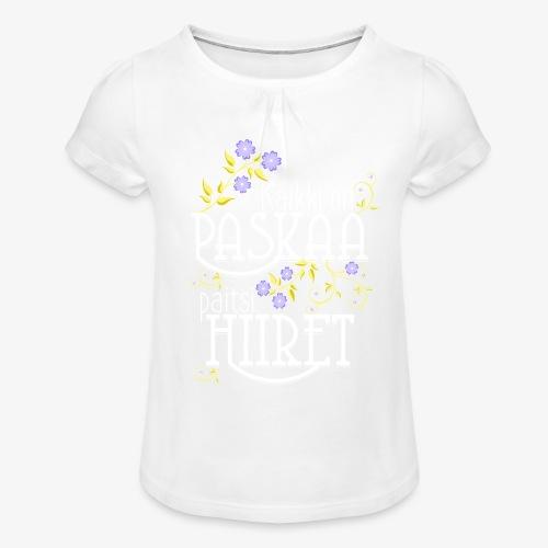 Tyttöjen t-paita, jossa rypytyksiä