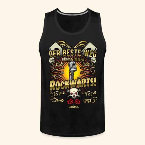 Rock Music Shirt ROCKWÄRTS - Männer Premium Tank Top