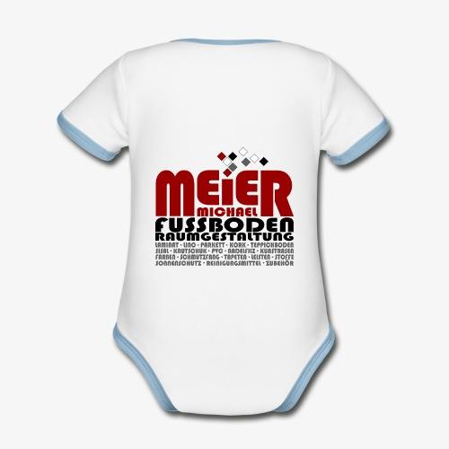 Modernes Vintage Shirt - Baby Bio-Kurzarm-Kontrastbody