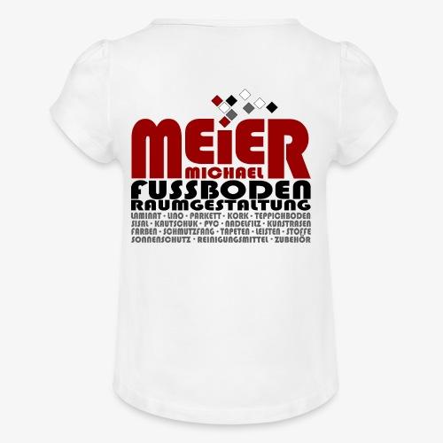 Modernes Vintage Shirt - Mädchen-T-Shirt mit Raffungen