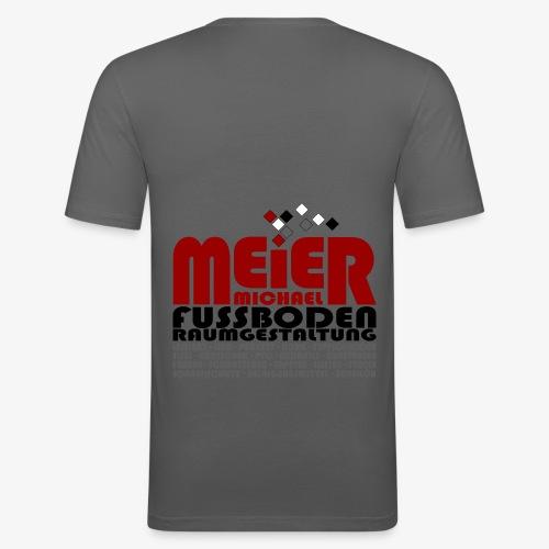 Modernes Vintage Shirt - Männer Slim Fit T-Shirt