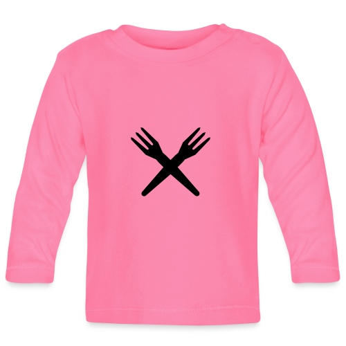 Gekruiste frietvorken. T shirt Belgium - Belgie, trident - T-shirt manches longues Bébé