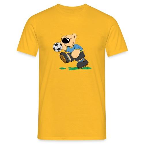 Der Bär spielt Fußball