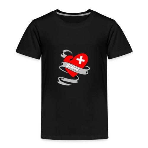 Mon coeur est pour la Suisse - Drapeau Suisse - T-shirt Premium Enfant