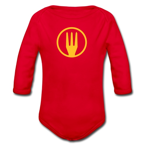 Frietvork Belgium 2018 - vrouwen t shirt - trident - Body Bébé bio manches longues