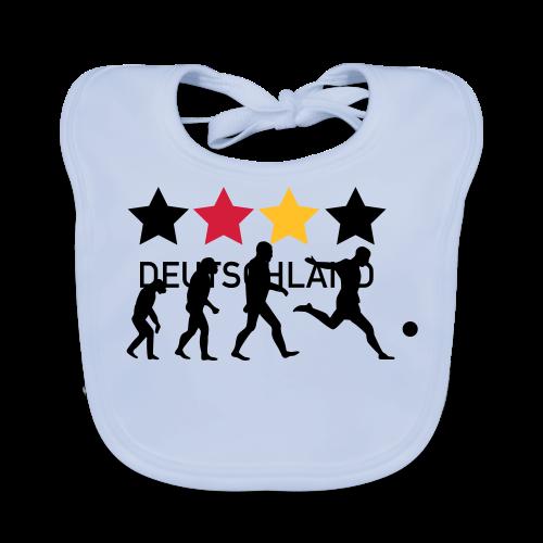 Shirt für Fußballfans. - Baby Bio-Lätzchen