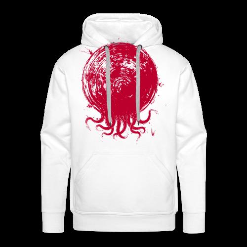 Le poulpe du Soleil-Levant - Sweat-shirt à capuche Premium pour hommes