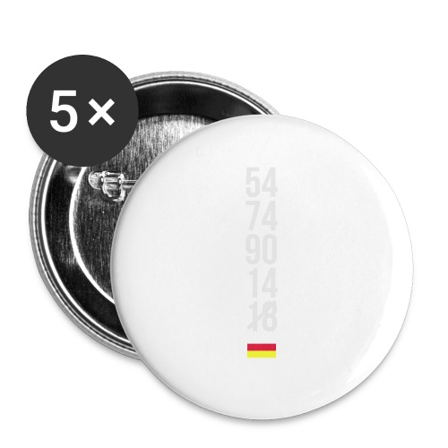 Tyskland ingen world champion 2018 svart rött guld Övrigt - Buttons groß 56 mm (5er Pack)