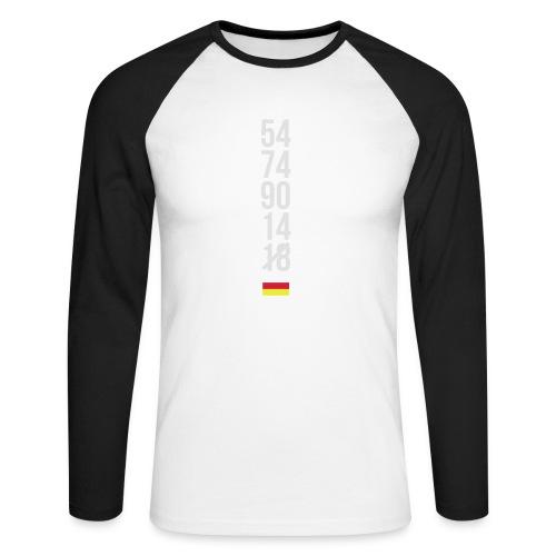 Tyskland ingen world champion 2018 svart rött guld Övrigt - Männer Baseballshirt langarm