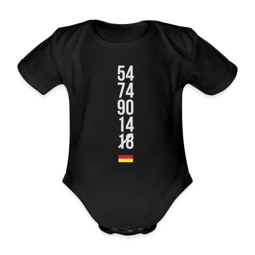 Tyskland ingen world champion 2018 svart rött guld Övrigt - Baby Bio-Kurzarm-Body