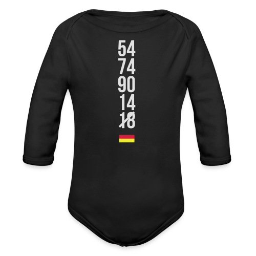 Tyskland ingen world champion 2018 svart rött guld Övrigt - Baby Bio-Langarm-Body
