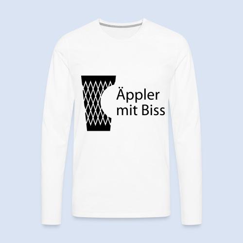 FRANKFURT DESIGN iGeripptes mit Biss #Bembeltown - Männer Premium Langarmshirt