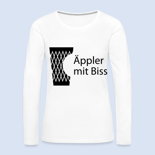 FRANKFURT DESIGN iGeripptes mit Biss #Bembeltown - Frauen Premium Langarmshirt