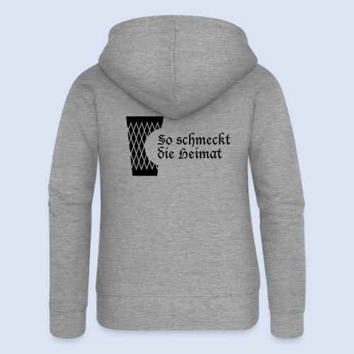 FRANKFURT DESIGN iGeripptes mit Biss #Frankfurt - Frauen Premium Kapuzenjacke