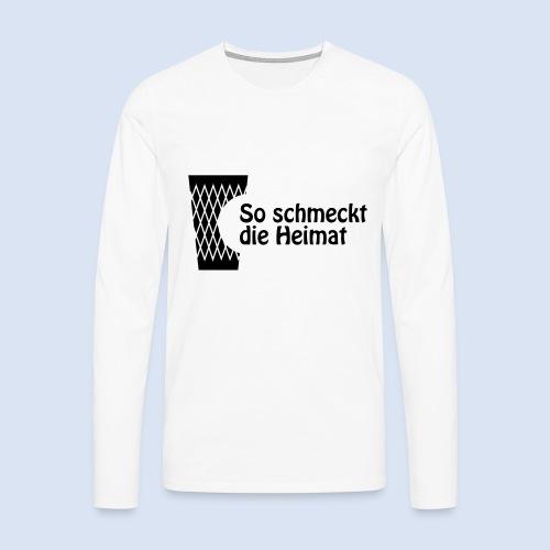 FRANKFURT DESIGN iGeripptes mit Biss #Geripptes - Männer Premium Langarmshirt