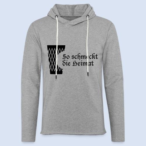 Bembel Design Frankfurt Design Geripptes - Leichtes Kapuzensweatshirt Unisex