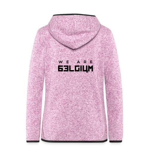 We Are Belgium, België - Veste à capuche polaire pour femmes