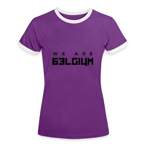 We Are Belgium, België - T-shirt contrasté Femme