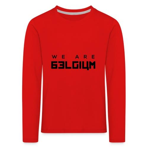 We Are Belgium, België - T-shirt manches longues Premium Enfant