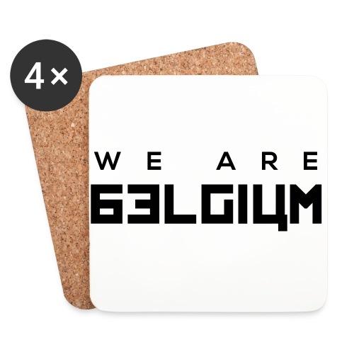 We Are Belgium, België - Dessous de verre (lot de 4)