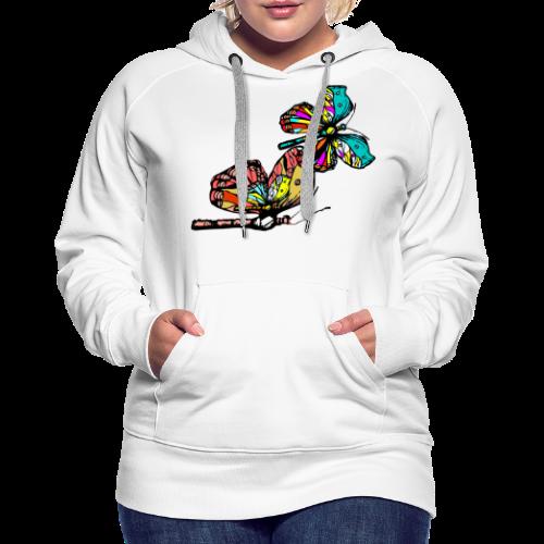 Frauen T- Shirt Schmetterlinge - Frauen Premium Hoodie