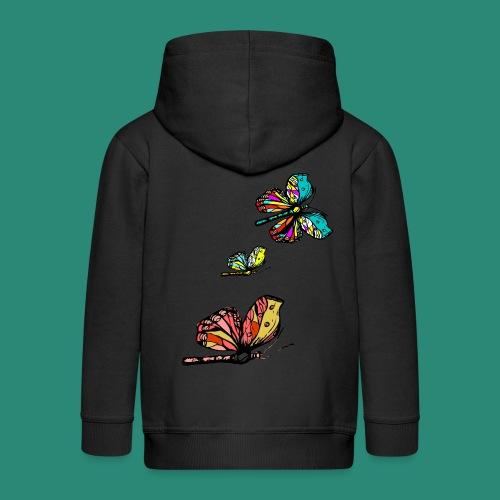 Frauen T- Shirt Schmetterlinge - Kinder Premium Kapuzenjacke