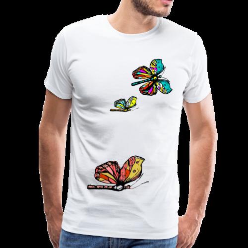 Frauen T- Shirt Schmetterlinge - Männer Premium T-Shirt