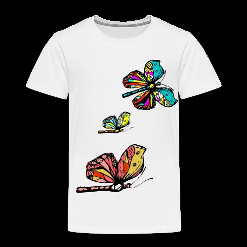 Frauen T- Shirt Schmetterlinge - Kinder Premium T-Shirt