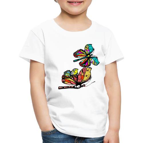 Frauen T- Shirt Schmetterlinge - Kinder Premium T-Shirt