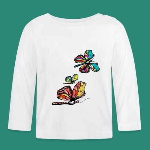 Frauen T- Shirt Schmetterlinge - Baby Langarmshirt
