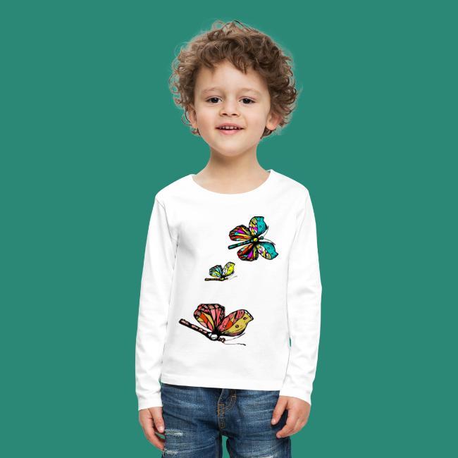 Frauen T- Shirt Schmetterlinge