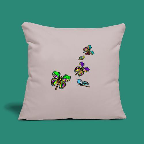 Schmetterlinge,Butterflies, T-shirt, - Sofakissenbezug 44 x 44 cm