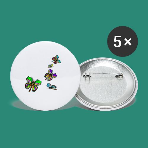 Schmetterlinge,Butterflies, T-shirt, - Buttons mittel 32 mm (5er Pack)